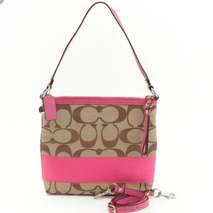 Like New*Hot Pink COACH SIS convertible Crossbody